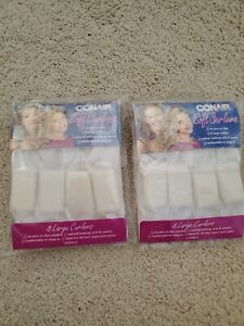 CONAIR 8 LARGE SOFT CURLERS ~ SELF-ATTACHING BENDABLE COMFORTABLE SOFT ~ NEW!