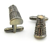 Cufflinks Dr Who Dalek 3D Metal silver Colour Cufflinks Doctor Who Cuff Links
