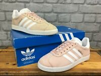 ADIDAS PALE PINK GAZELLE ORIGINALS TRAINERS RE DYE VARIOUS SIZES MENS LADIES