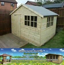 Shed Apex Garden Summer House Gym Office Heavy Duty 16mm T&G Cladding Tanalised