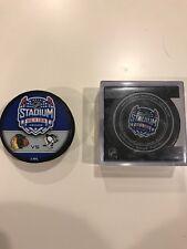 2014 Stadium Series Hockey Pucks Chicago Blackhawks vs Pittsburgh Penguins