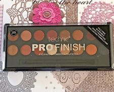 Technic PRO FINISH 16 Colour Eyeshadow Palette & Brush. TOFFEE EDITION x