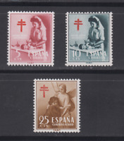 ESPAÑA (1953) SERIE COMPLETA EDIFIL 1121/23 NUEVOS SIN FIJASELLOS MNH