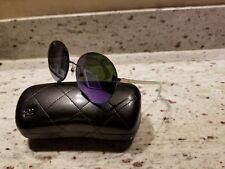 9a5c40184cf CHANEL 4216 c.124 4V Purple Airlines Collection Round Rimless Sunglasses ❤
