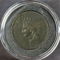 1875 US Indian Head Penny AU Condition  A-816