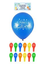 12 Happy Easter Party Egg Hunt Colour Printed Latex Balloons Celebration Balloon