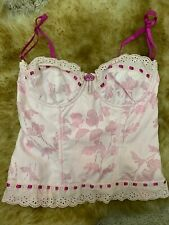 Fornarina pink cotton Corset bustier TOP WOMEN size  L