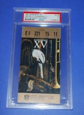1981 Super Bowl XV Ticket Stub-Gold Variation-Raiders vs Eagles-PSA VG 3