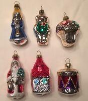 Vintage Lillian Vernon Set Of 6 Glass Christmas Ornaments