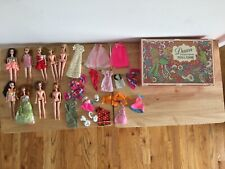 1970 VINTAGE TOPPER DAWN LOT OF 9 DOLLS WITH CLOTHES AND CARRY CASE