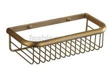 45cm Antique Brass Wall Mounted Kitchen Bath Shower Shelf Storage Basket fba030