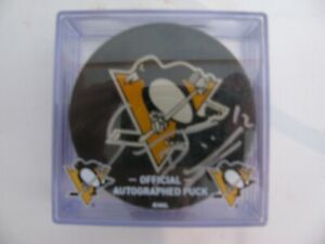 DOMINIK SIMON #12 Signed Pittsburgh Penguins Hockey Puck CHARITY BAG