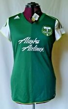 68e008847 NWT  75 WOMEN S L ADIDAS 2011 MLS PORTLAND TIMBERS HOME JERSEY RCTID 38 Bust