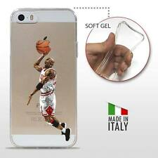 iPhone 5 5S SE TPU COVER PROTETTIVA GEL TRASPARENTE NBA Basket Michael Jordan