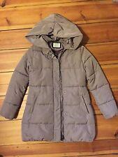 schöne ZARA Daunenjacke/Mantel mit Kapuze, beige, Gr. 13-14, sehr guter Zustand