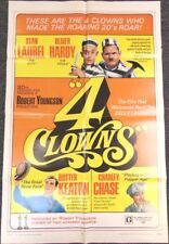 1970 Movie Poster 4 CLOWNS Laurel & Hardy BUSTER KEATON Charley Chase