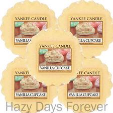 5 YANKEE CANDLE WAX TARTS TARTLETS Vanilla Cupcake MELTS