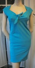 Retro 50s Rockabilly Style Fitted Dress - Turquoise Wiggle dress (Last One)