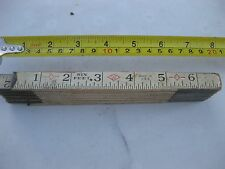VINTAGE Six Feet brand  MASTER SLIDE  RULE MEASURING TAPE  MADE IN USA