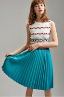 AUTH Ted Baker  Knitted Midi dress with pleated skirt 0-5