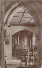 CLEVEDON All Saints Church Interior Somerset Rev Rugby Frankton Vintage PC 1916