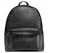 Brand New Coach Charles Signature Rucksack Backpack Men's Bag - F55398 Black
