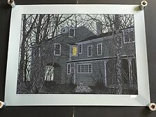 DAN MCCARTHY - House of Edward Gorey RARE SIGNED art screen print 2009