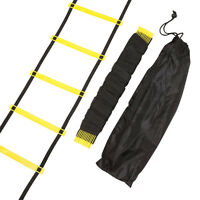 10/11/12-rung Agility Ladder for Speed Soccer Football Fitness Feet Training+Bag