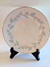 "Vintage Paragon Elgin Blue 7 5/8"" Plate Fluted Gold Trim Rim Aqua Gray"
