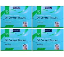 4x Oil Control Tissues Sheets Exces Oil Shine Absorbing Face Blotting Paper x50