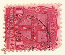 New South Wales QV 1d red TRAVELLING POST OFFICE postmark 1898 T.P.O.