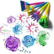 4XSTÜCK Kinder Kinde Malen Pinsel Bürste Werkzeuge Malerei Lernen Schwamm Bürste