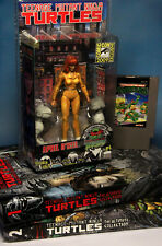 Custom '09 NECA April O'Neil TMNT Ultimate Collection Hardcover + NES Cartridge