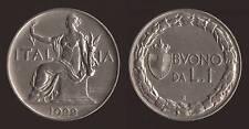 BUONO DA 1 LIRA 1922 - VITTORIO EMANUELE III SPL+
