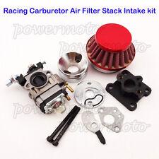 Racing carburateur kit de filtre à air pile pour 47cc 49cc mini atv dirt pocket bikes