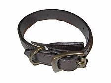 Ralph Lauren Vintage Leather Polo Crest Brass Roller Buckle Cuff Bracelet