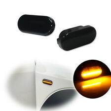 Smoked LED Side Marker Signal Lights For Volkswagen MK4 Jetta GTI R32 Beetle