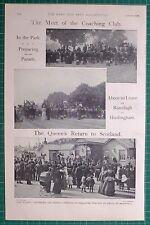 1900 BOER WAR COACHING CLUB PARADE RANELAGH HURLINGHAM THE QUEEN AT BALLATER