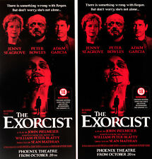 THE EXORCIST LONDON WEST END THEATRE FLYERS X 2 JENNY SEAGROVE ADAM GARCIA