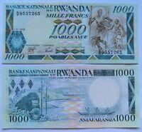 RUANDA RWANDA 1000 francos, emisión 01-01-1988, P-21a. Plancha UNC.