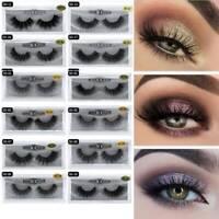 UK Mink Eyelashes Handmade 3D Mink  Full Strip Soft False Eyelashes Makeup