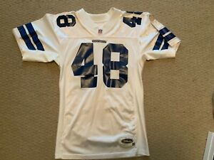 Authentic White Cowboys jersey #48  size 44 Moose