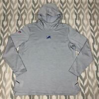 Nike Dry Activewear NFL Detroit Lions On Field LS Hoodie Gray Size XL AO3514-007