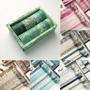 12 Rolls Washi Tape Decorative Scrapbooking Paper Adhesive DIY Sticker Craft Set