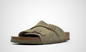 BIRKENSTOCK Zurich BS Faded Khaki Men's Slide Sandals Regular Fit 1019197