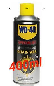 WD40 WDSP Specialist Motorbike Motorcycle Bike Chain Wax 400ml Spray