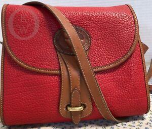 ~Vintage~Dooney & Bourke *R25*Medium Essex*RED* Shoulder Bag/Crossbody*19063E