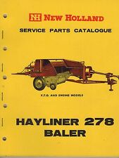 New Holland  Hayliner 278 Baler Service Parts Catalogue 1964  3314F