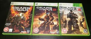 Gears of War Trilogy (1, 2 & 3) Game Collection Xbox 360 Games Bundle