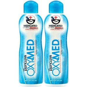 2 x TropiClean OxyMed Medicated Oatmeal Treatment Ultra, 592ml Soothing Relief